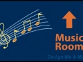 Music room school floor mat