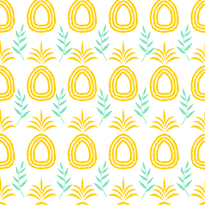 Repeating pineapple pattern