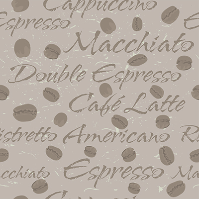 Coffee bean repeating pattern