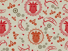 mexican theme seemless pattern design