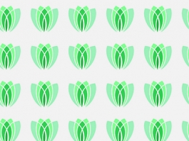 Repeating seamless abstract flower pattern