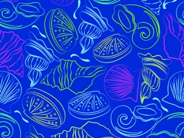 Seashells repeating pattern design.
