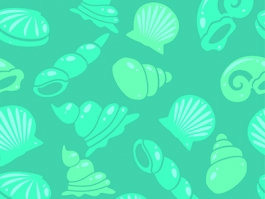 Seashells repeating pattern