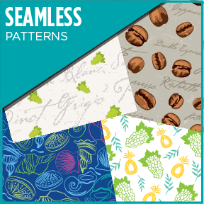 Various seamless repeating pattern designs. A new addition to my portfolio.